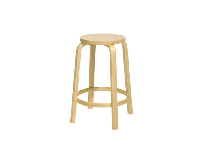 The classic Alvar Aalto Bar Stool 64 is $780 at Horne.