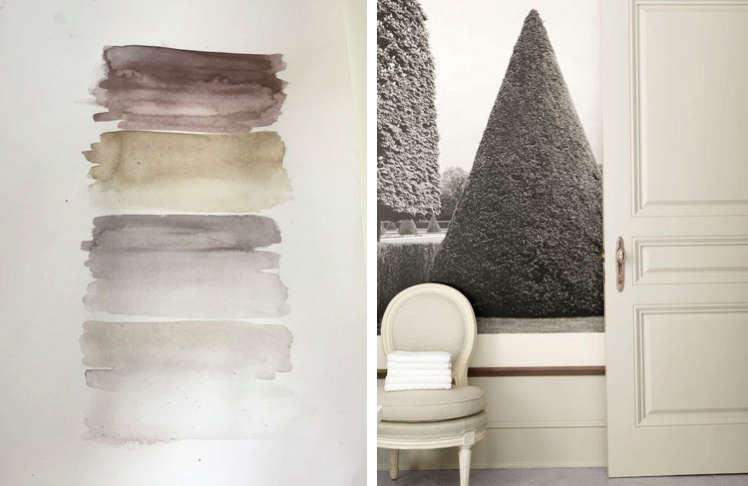 designed barbara barry watercolor and detail of her la house | remodelista 12