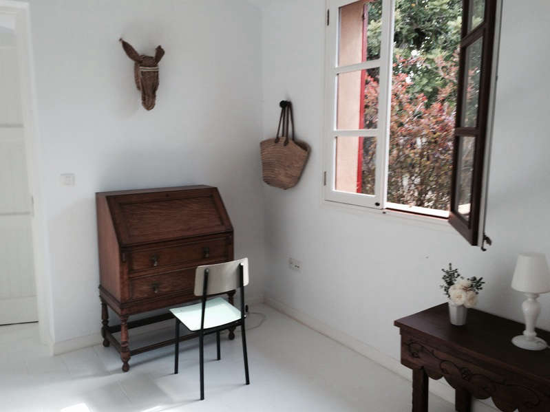 An Artful Casita from a New Yorker in Mallorca Spain hito home desk donkey mount remodelista