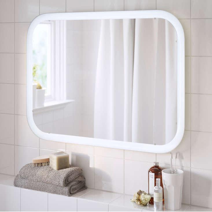 ikea storjorm mirror with integrated lighting | remodelista 15