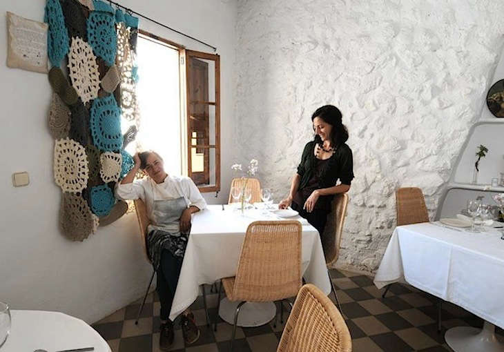 mallorca restaurant crochet curtain 10