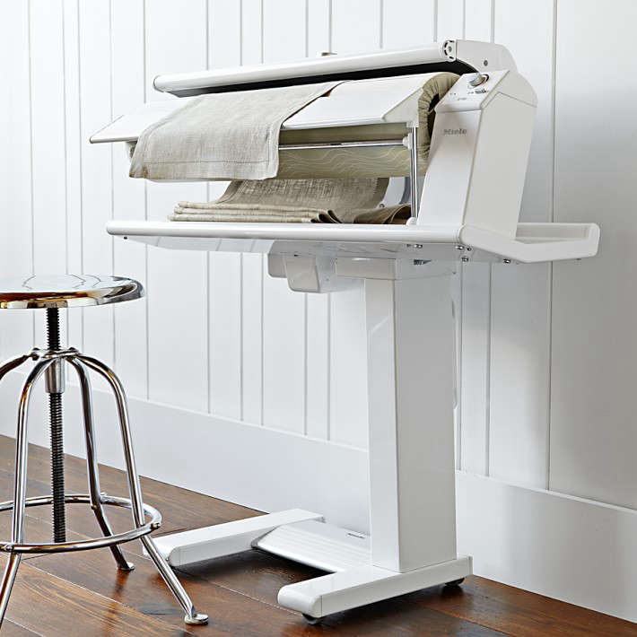modern mangle: the miele pedal operated rotary iron | remodelista 16