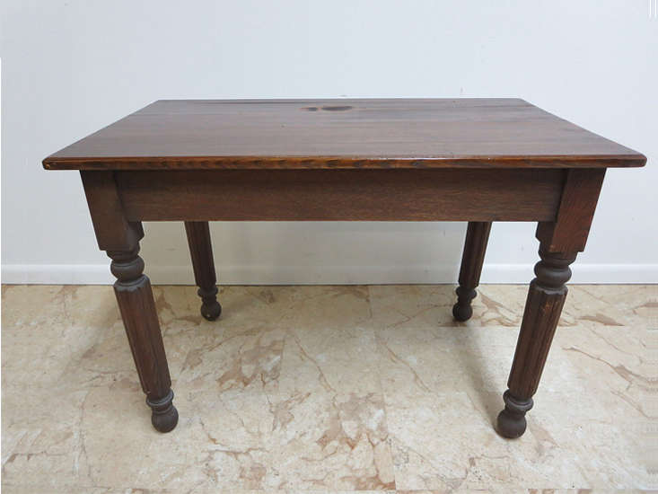 get creative by painting an antique item, like thisantique farm table, found  21