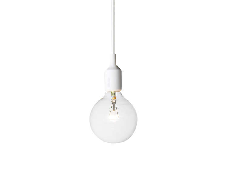 white muuto pendant bulb light remodelista 19