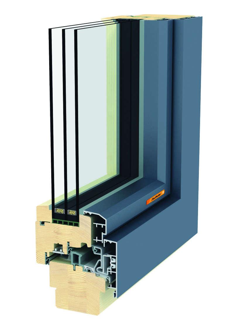triple panel window, fusionline wood aluminum design from gaulhofer | remodelis 14