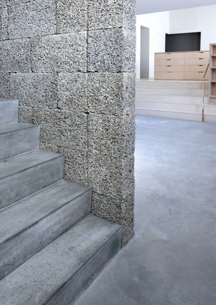 Lessons in Reinvention A Victorian Girls School Reborn The stairwall is made of dry stacked Durisol Wood Cement Walling Units.