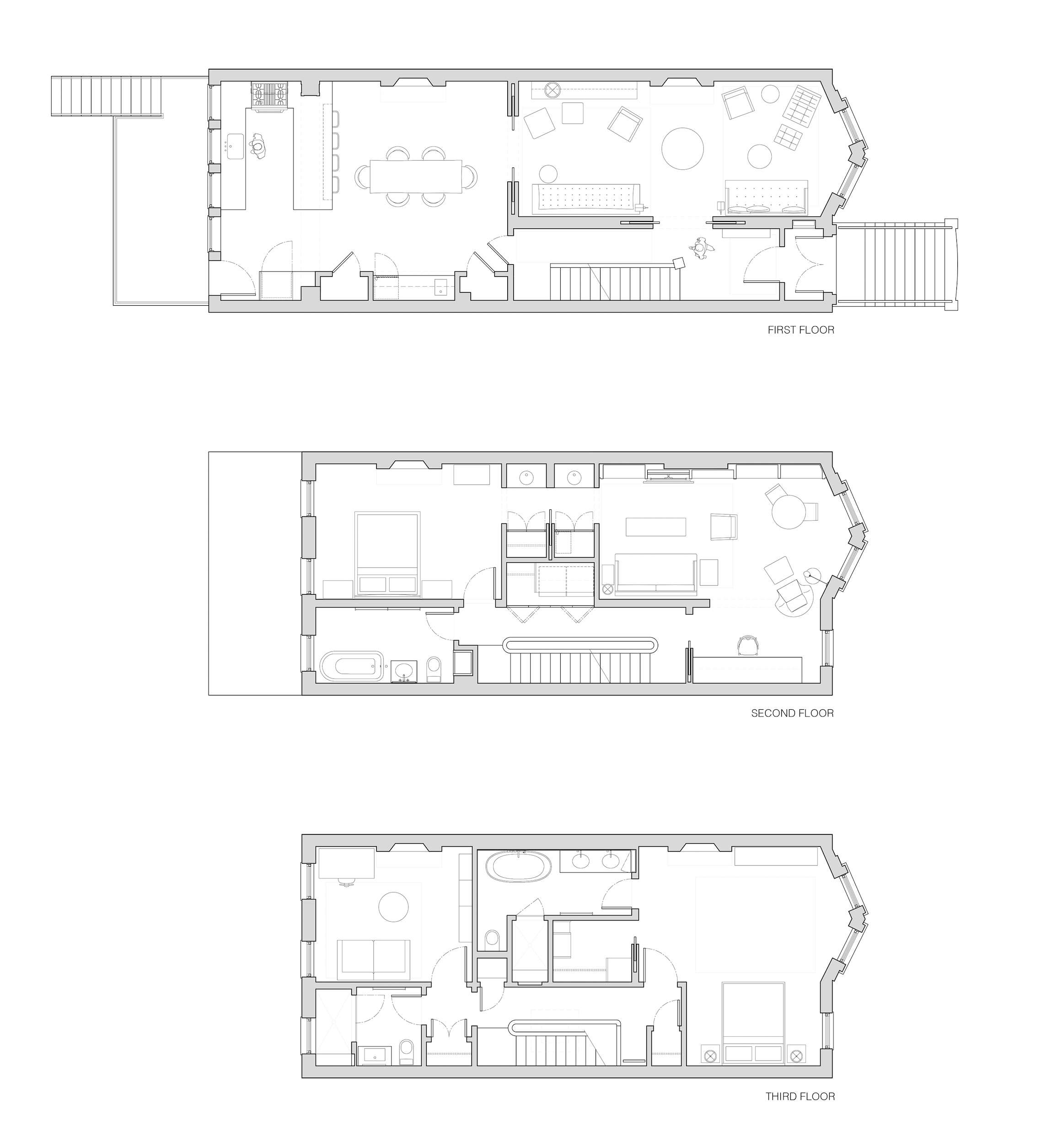 brooklyn prospect heights townhouse floor plans by bangia agostinho architectur 23