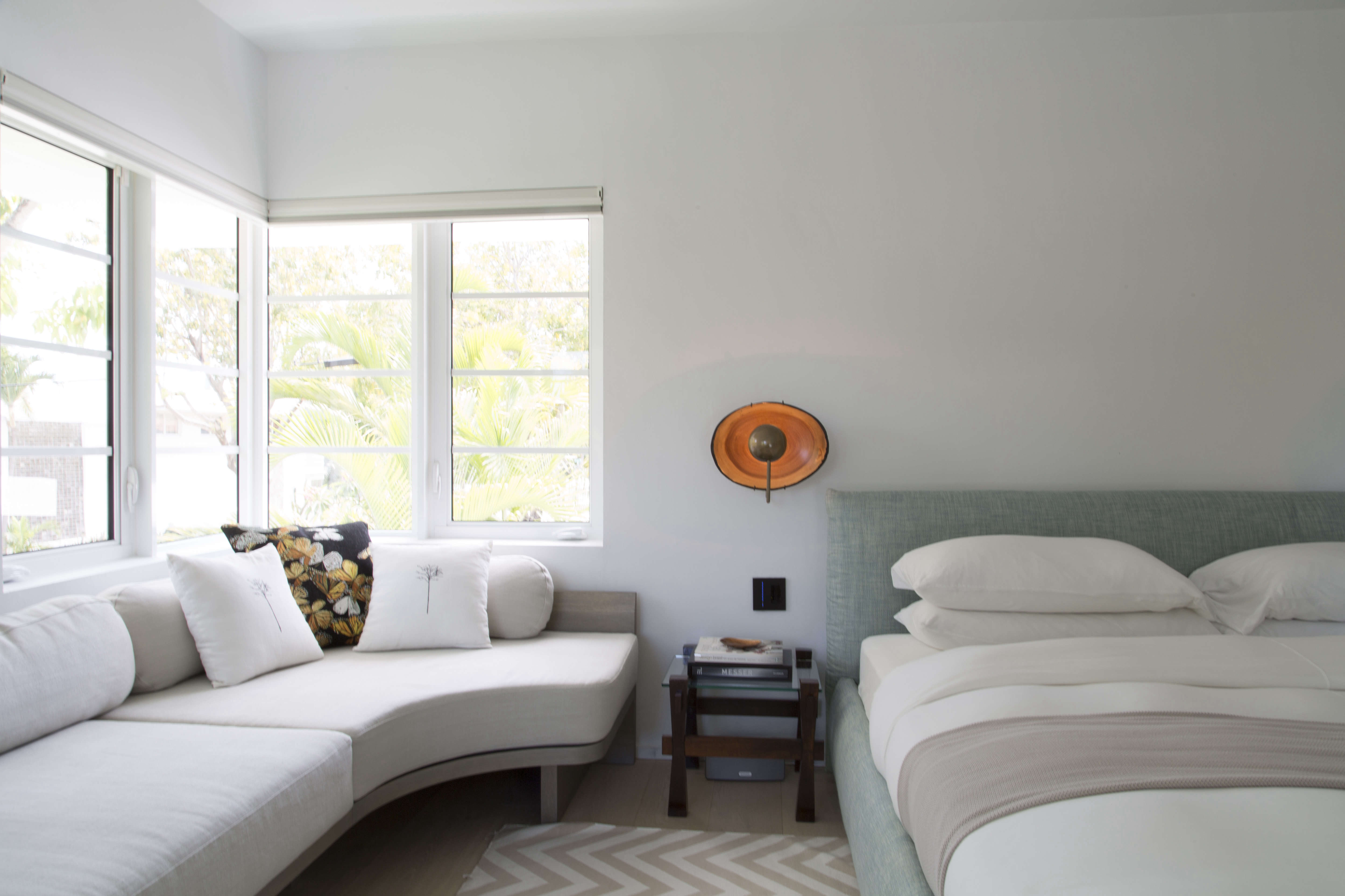 Modern in Miami At Home with a Worldly Contemporary Furniture Dealer Master bedroom in a revived 1932 Miami villa with contemporary furniture dealer Stephan Weishaupt of Avenue Road, Max Zambelli photo | Remodelista