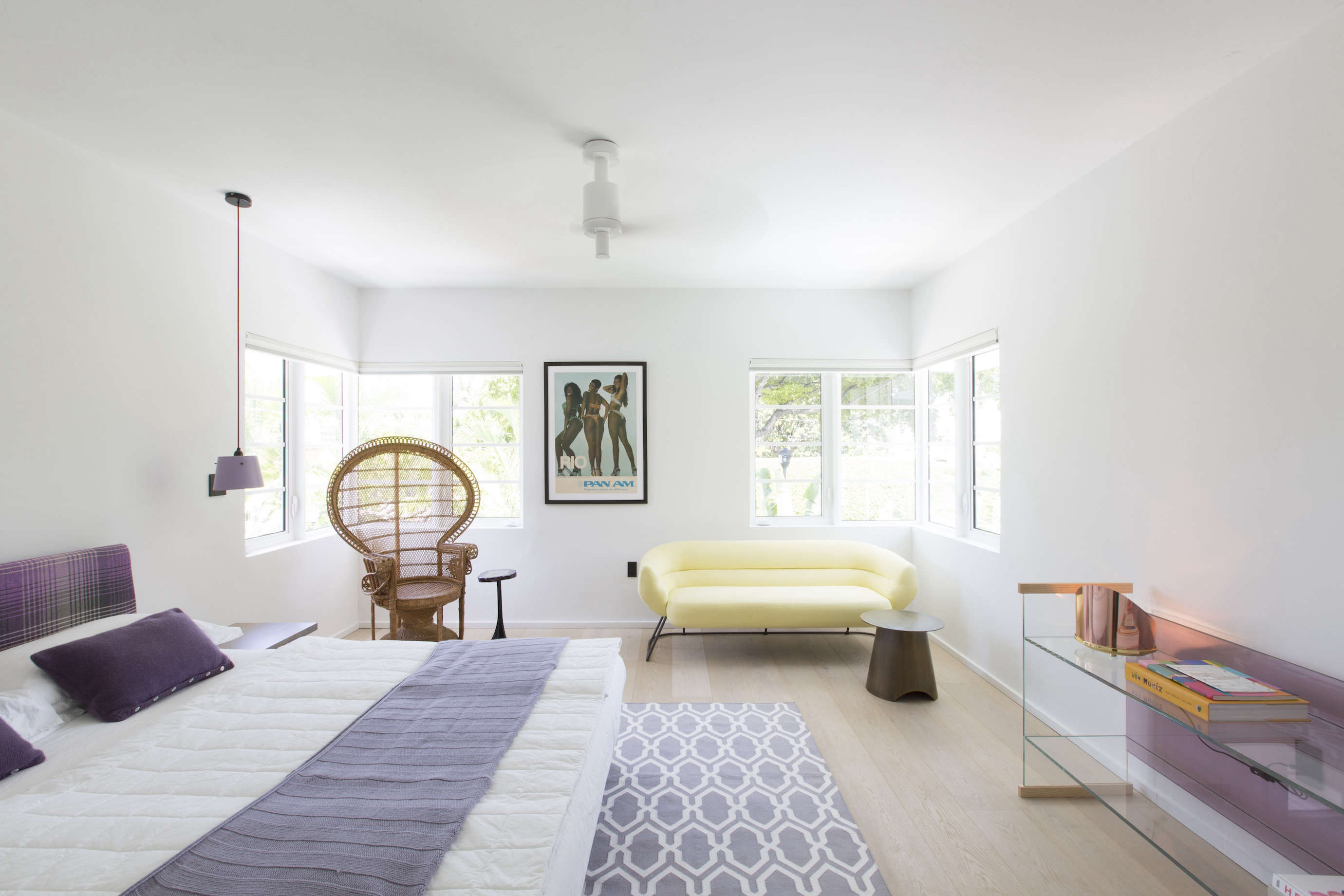 Modern in Miami At Home with a Worldly Contemporary Furniture Dealer Bedroom in a revived 1932 Miami villa belonging to contemporary furniture dealer Stephan Weishaupt of Avenue Road, Max Zambelli photo | Remodelista