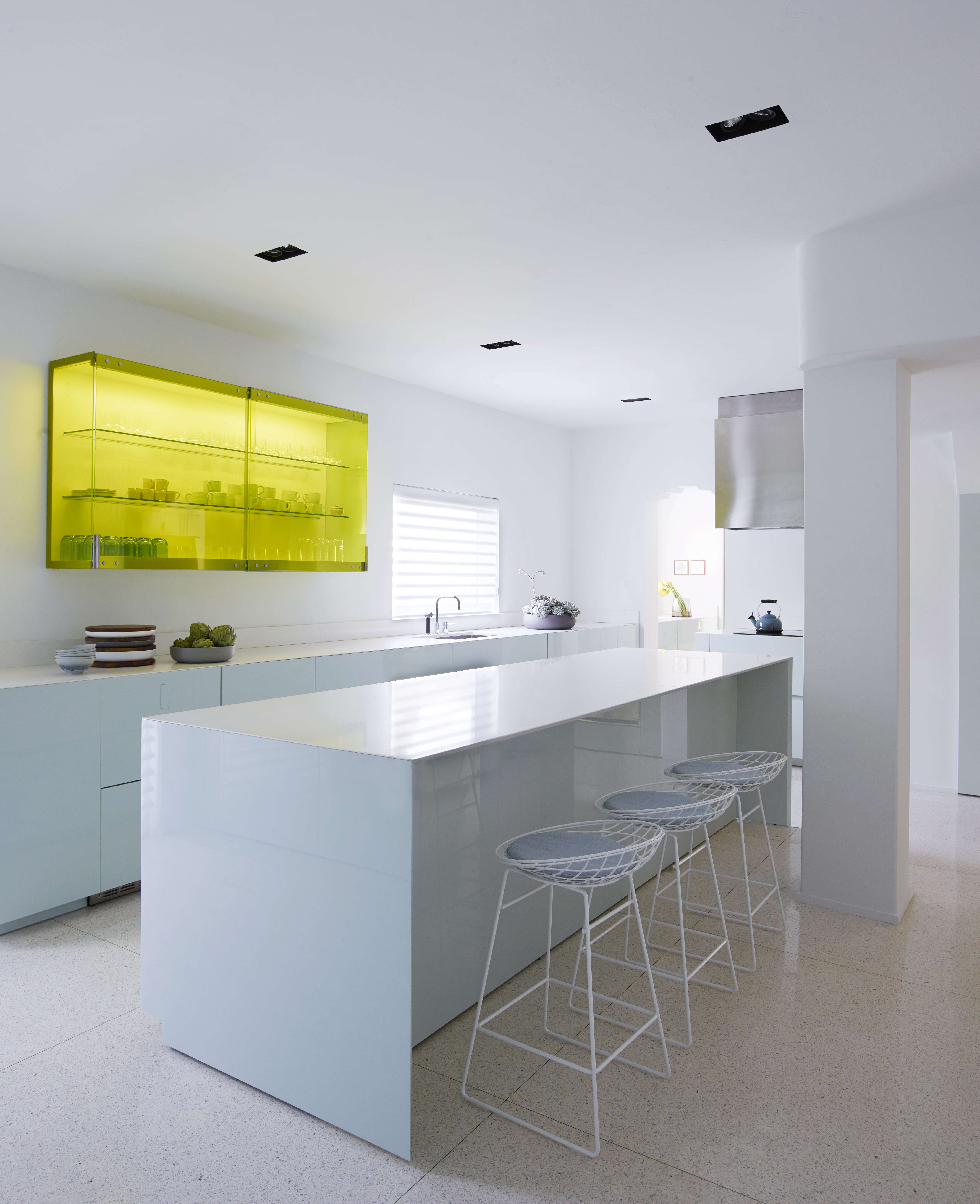 Modern in Miami At Home with a Worldly Contemporary Furniture Dealer Minimalist contemporary kitchen in a revived 1932 Miami villa belonging to contemporary furniture dealer Stephan Weishaupt of Avenue Road, Richard Powers photo | Remodelista