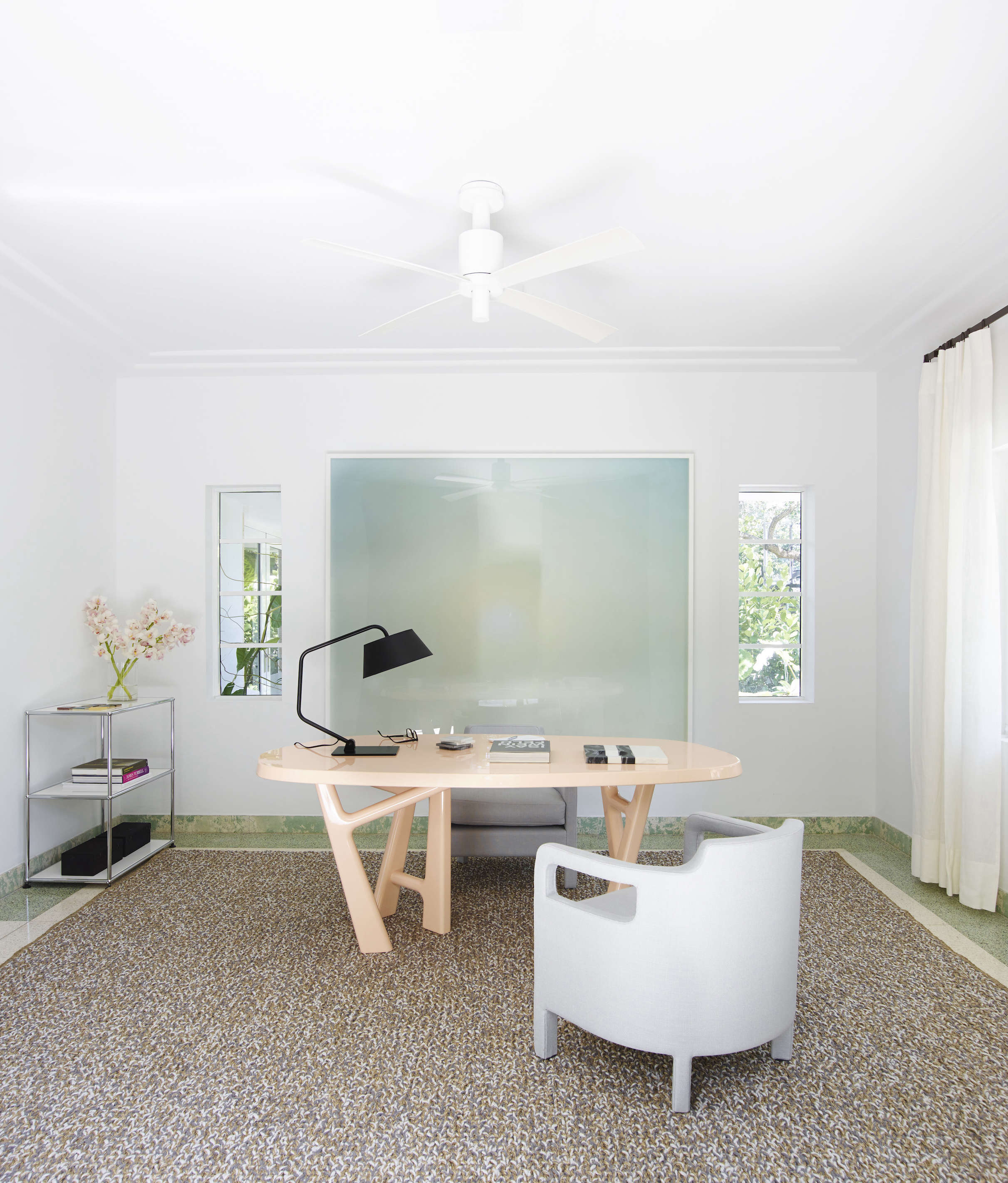 Modern in Miami At Home with a Worldly Contemporary Furniture Dealer Luxe home office in a revived 1932 Miami villa belonging to contemporary furniture dealer Stephan Weishaupt of Avenue Road, Richard Powers photo | Remodelista