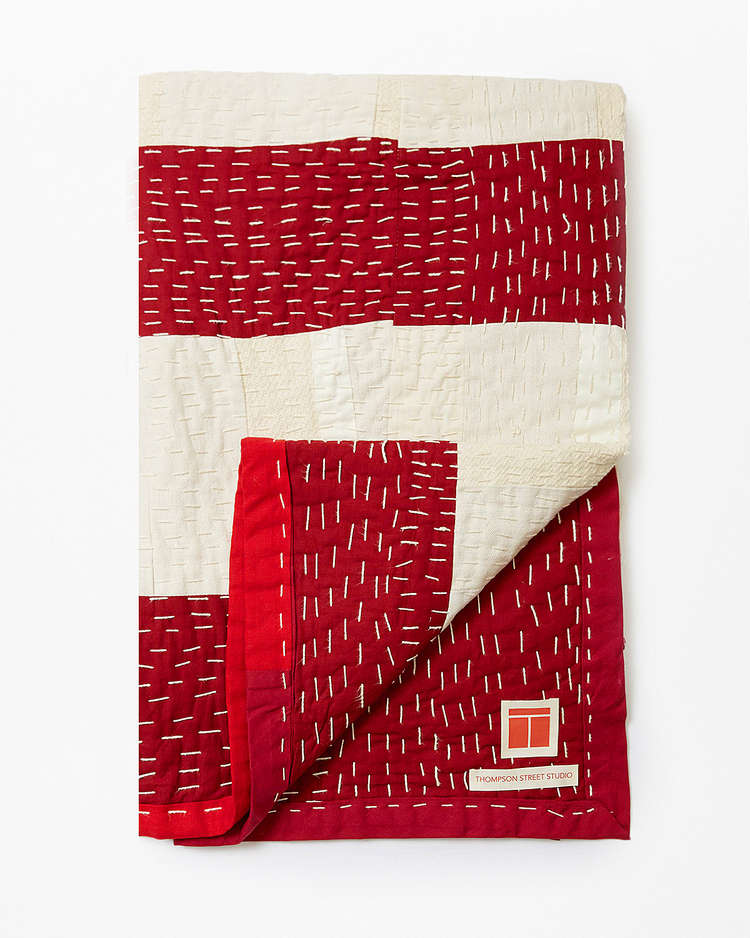 Thompson Street Studio red quilt
