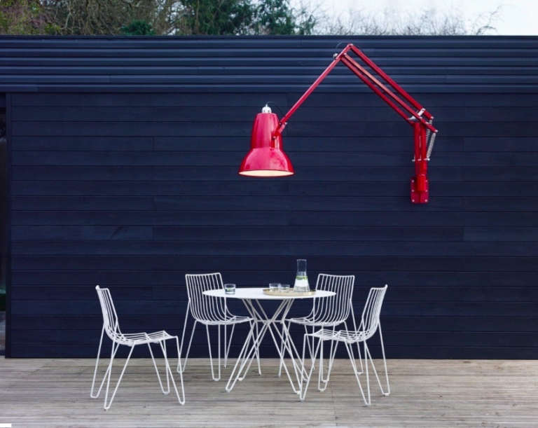 anglepoise, the classic british light, has gone outsized—and outside. read ab 9