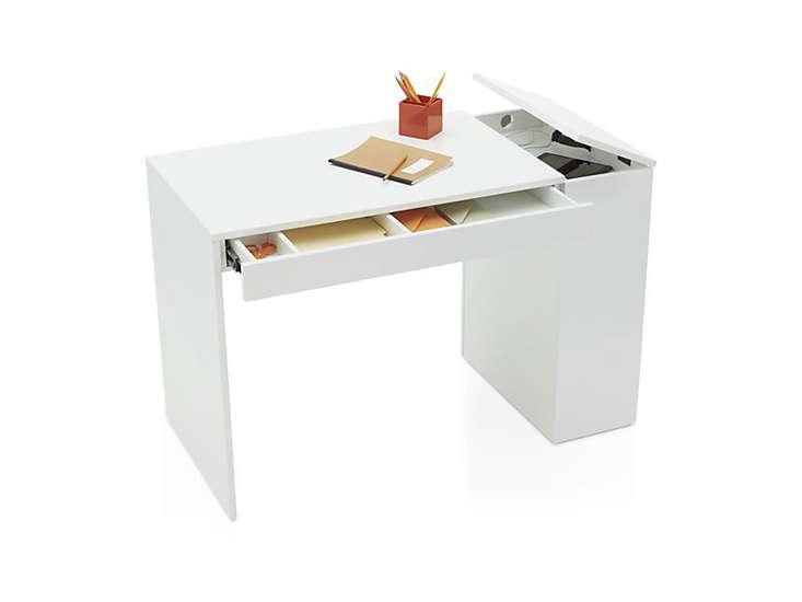 10 Easy Pieces Hardworking Desks crate and barrel treble white desk remodelista