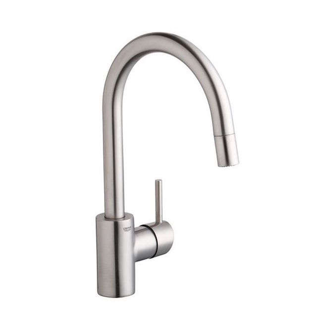 10 Easy Pieces PullDown Sprayer Faucets grohe dual spray pull down faucet remodelista
