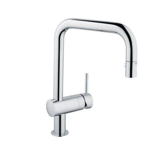 10 Easy Pieces PullDown Sprayer Faucets grohe minta pull down kitchen faucet remodelista