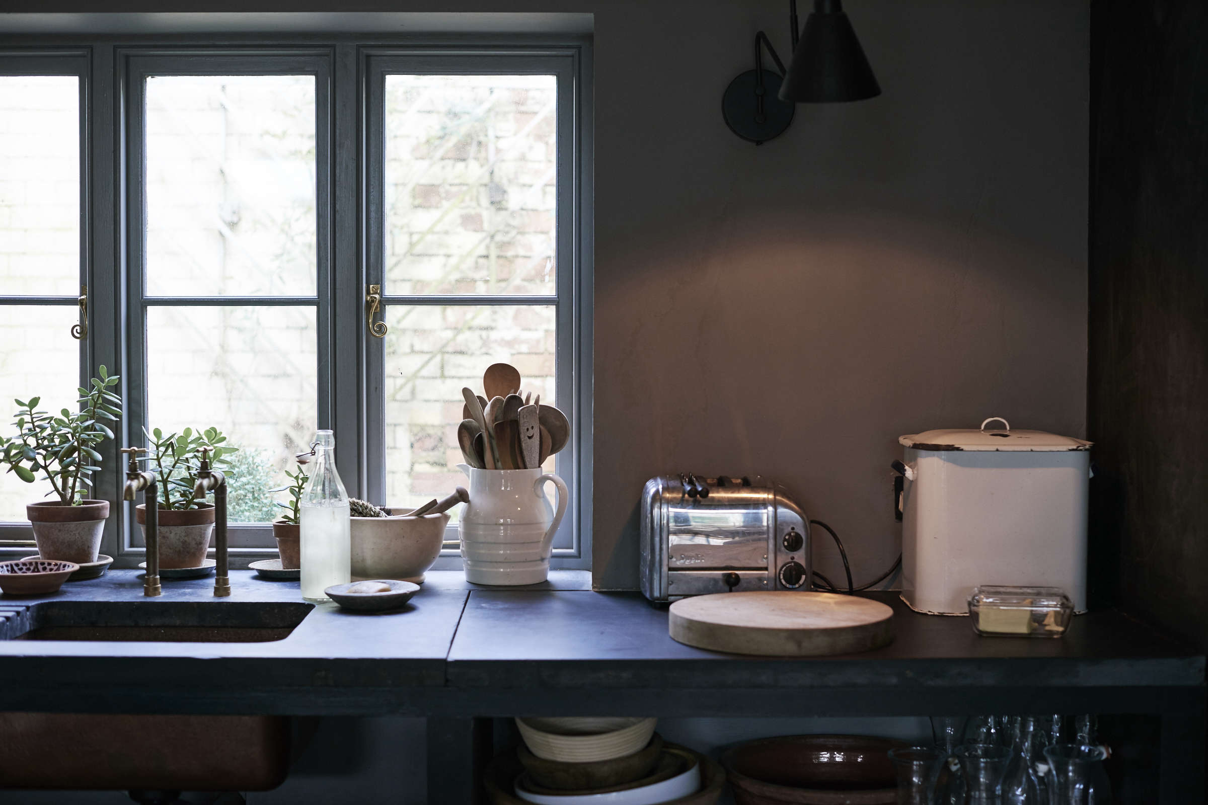 On the Market A Historic House Reimagined for a Modern Family in Stroud England niki turner kitchen detail shot remodelista