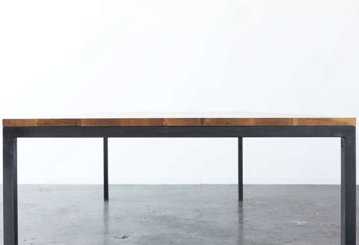 San Francisco-based Ohio Design makes a simple Parsons-style table called the Brooks Tablefor $loading=