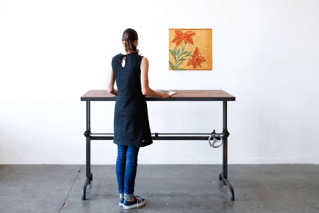 10 Easy Pieces Hardworking Desks ohio design standing desk adler table remodelista