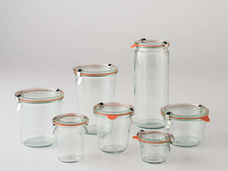 Handy in the kitchen, Weck Storage Jars range from $3 to $8 each at Schoolhouse.
