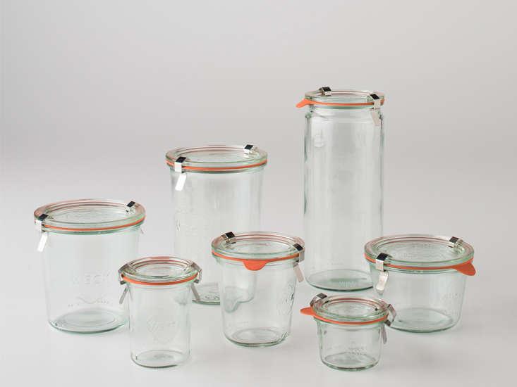 handy in the kitchen, weck storage jars range from \$3 to \$8 each at schoolhou 24