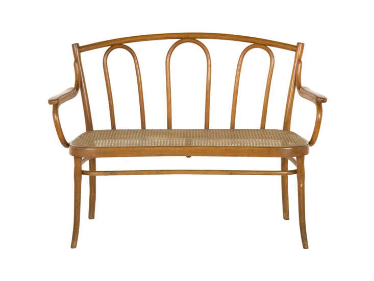 Source a Vintage Thonet Bench like this one via Jayson Home on eBay, Etsy, and Chairish.
