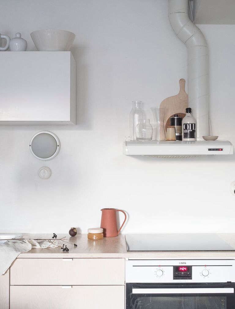 Photograph fromKitchen of the Week: A Stylist's $3,400 Kitchen Makeover, DIY Scandi Edition.