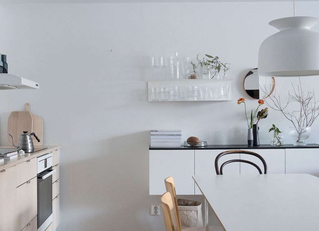 the couple builta shallow sideboard from the same ikea cabinetry that they hu 14