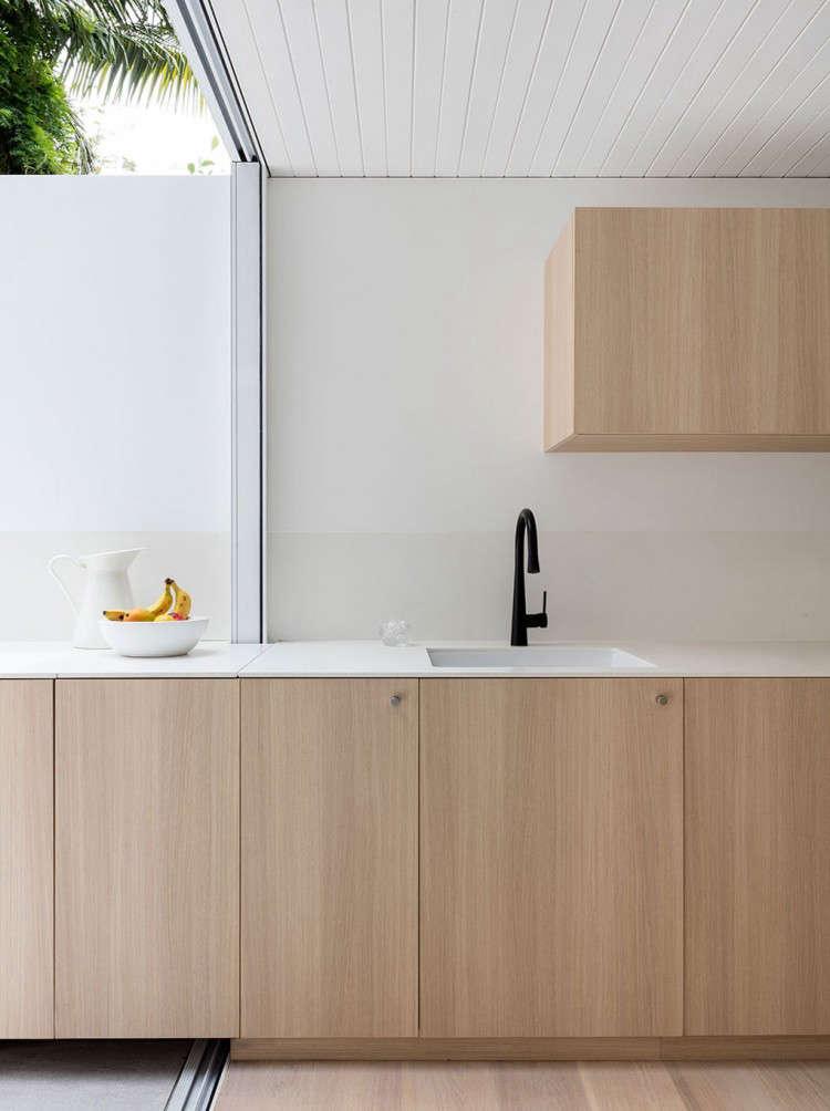 black and white modern kitchen counter design in an indoor outdoor kitchen desi 11