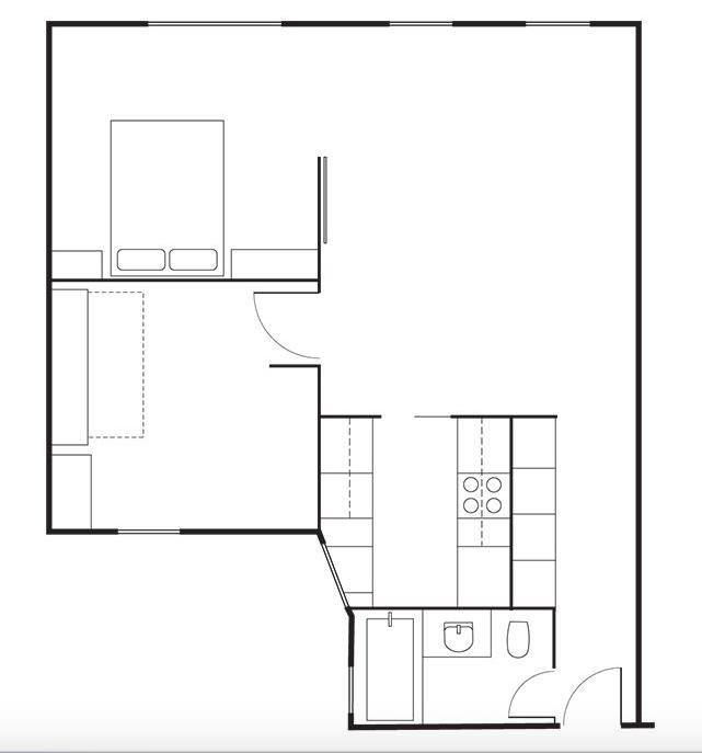 David-Friedlander-Jacqueline-Schmidt-Brooklyn-apt floor-plan | Remodelista