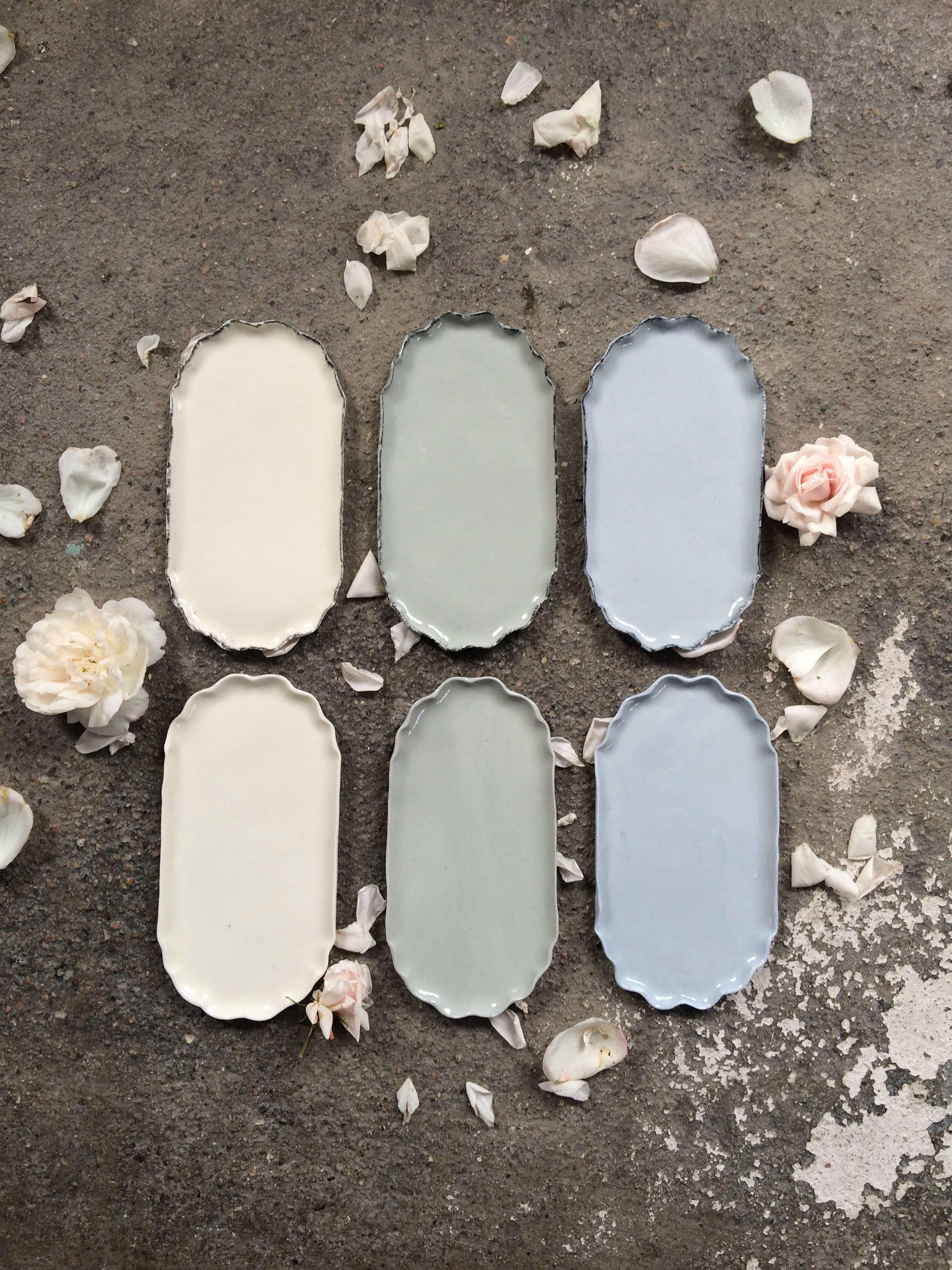 Elin Lannsjo ceramics, pastels grays, Remodelista