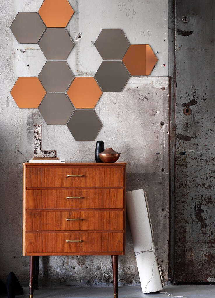ikea honeycomb shaped honefoss mirrors   remodelista 16