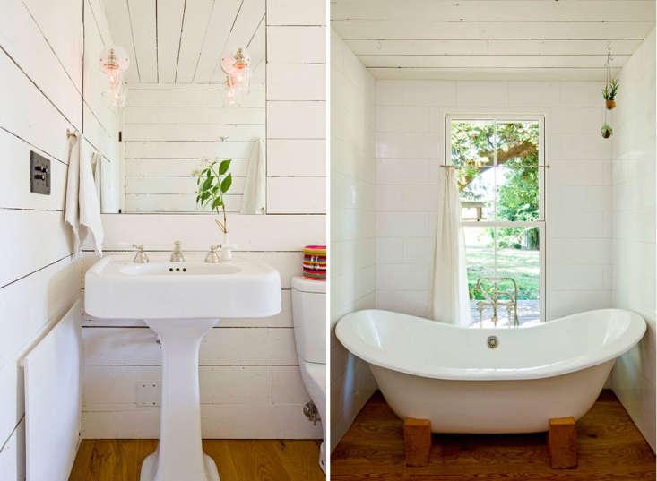 ina scandinavian cottage—in portlandia, shiplap adds charm to a tiny bath. 11