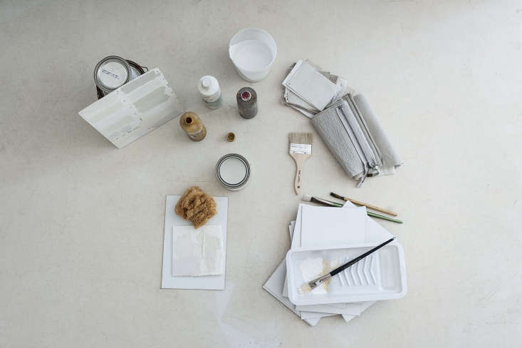 Photograph by Matthew Williams for Remodelista, from DIY Paint: Designer Michaela Scherrer Mixes Her Own Shades of White.