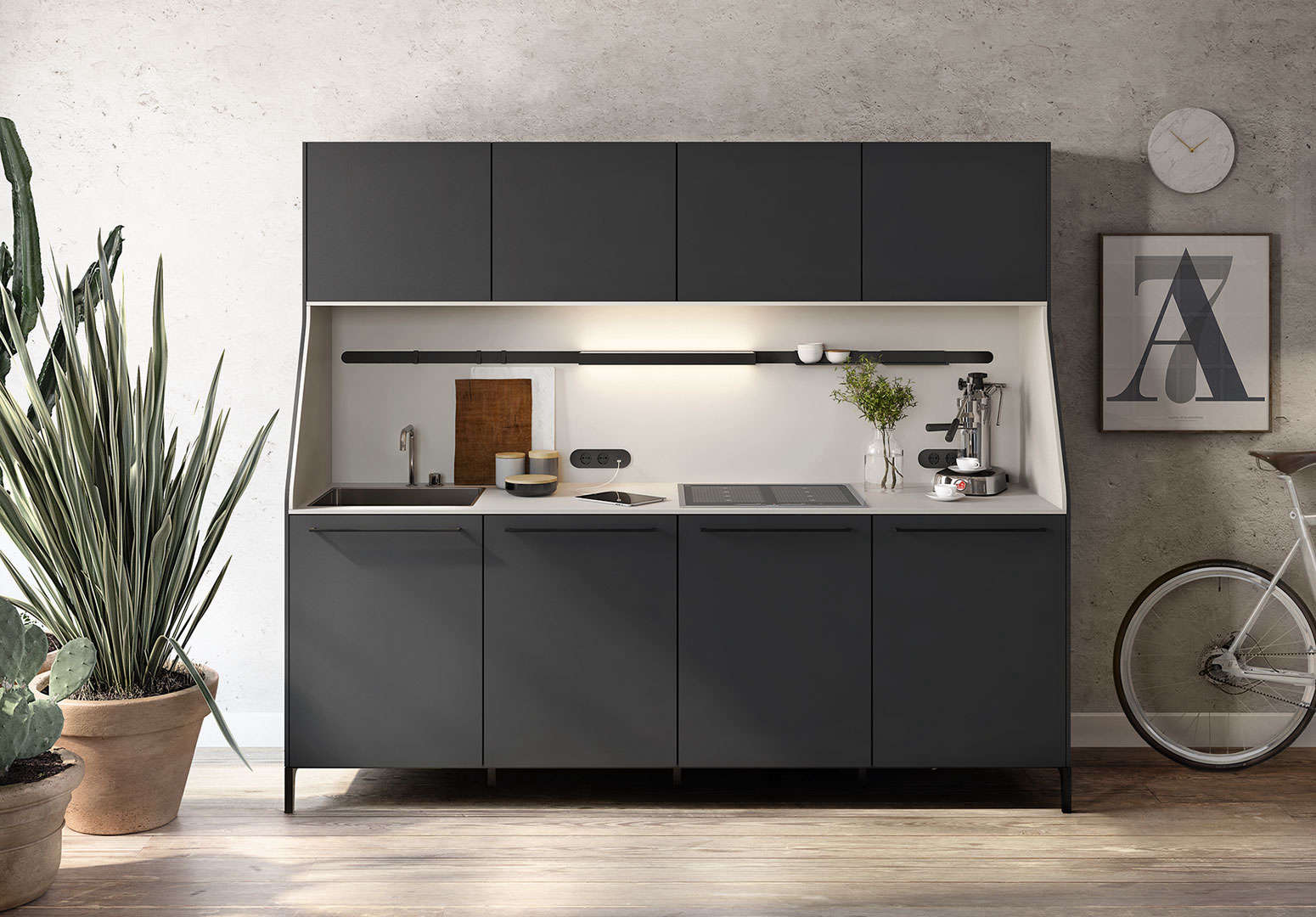 Standout German-designed minimalist kitchen, the SieMatic 29 is modeled after a traditional sideboard | Remodelista
