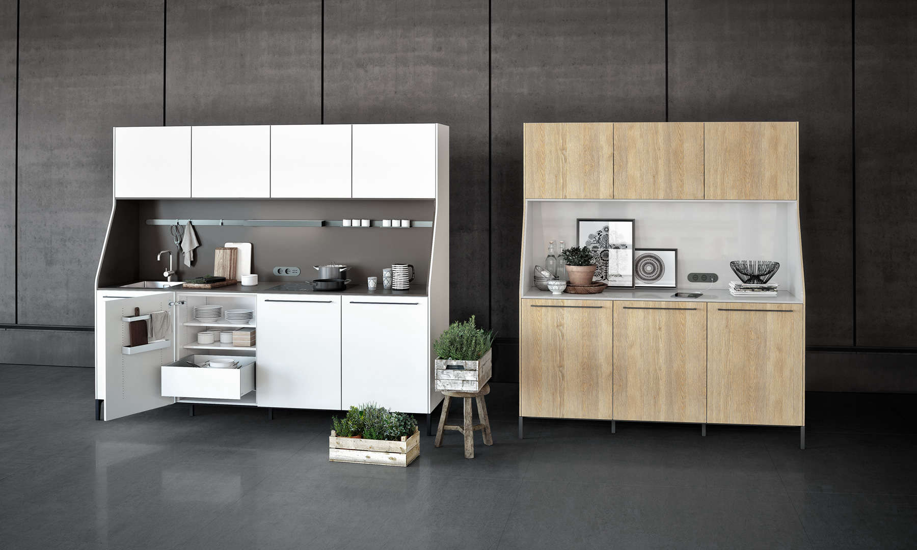 SieMatic 29 kitchen in white lacquer and pale oak | Remodelista