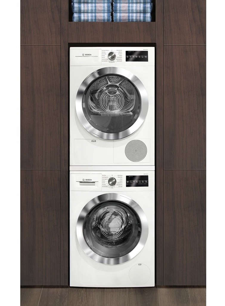 Bosch 800 Series Washer and Dryer Stack