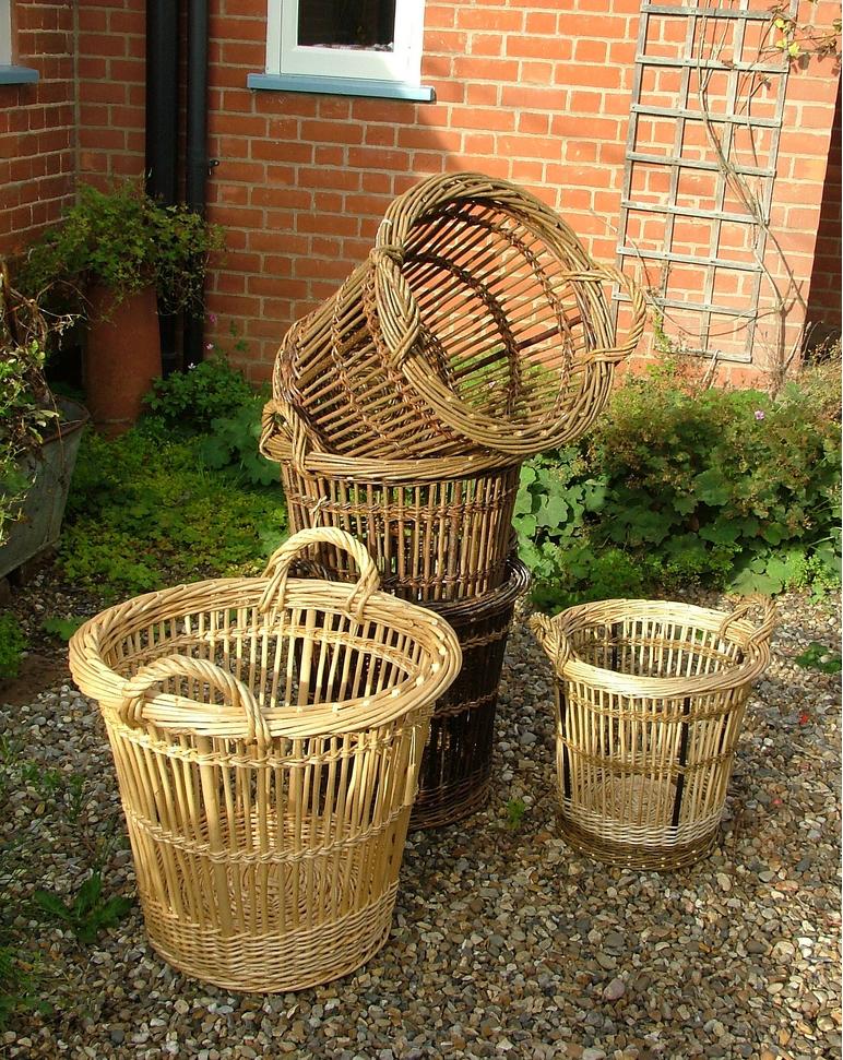 Cran baskets by Norfolk basket Co., Remodelista