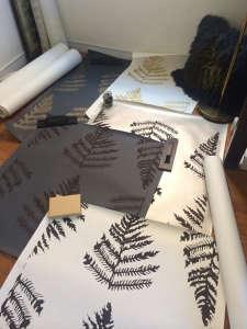 erica tanov hand silkscreen printed wallpaper fern remodelista 9
