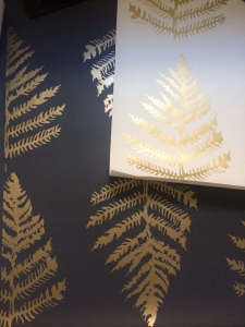 erica tanov hand silkscreen printed wallpaper fern gold remodelista 10