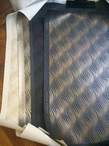 erica tanov hand silkscreen printed wallpaper tendril remodelista 11