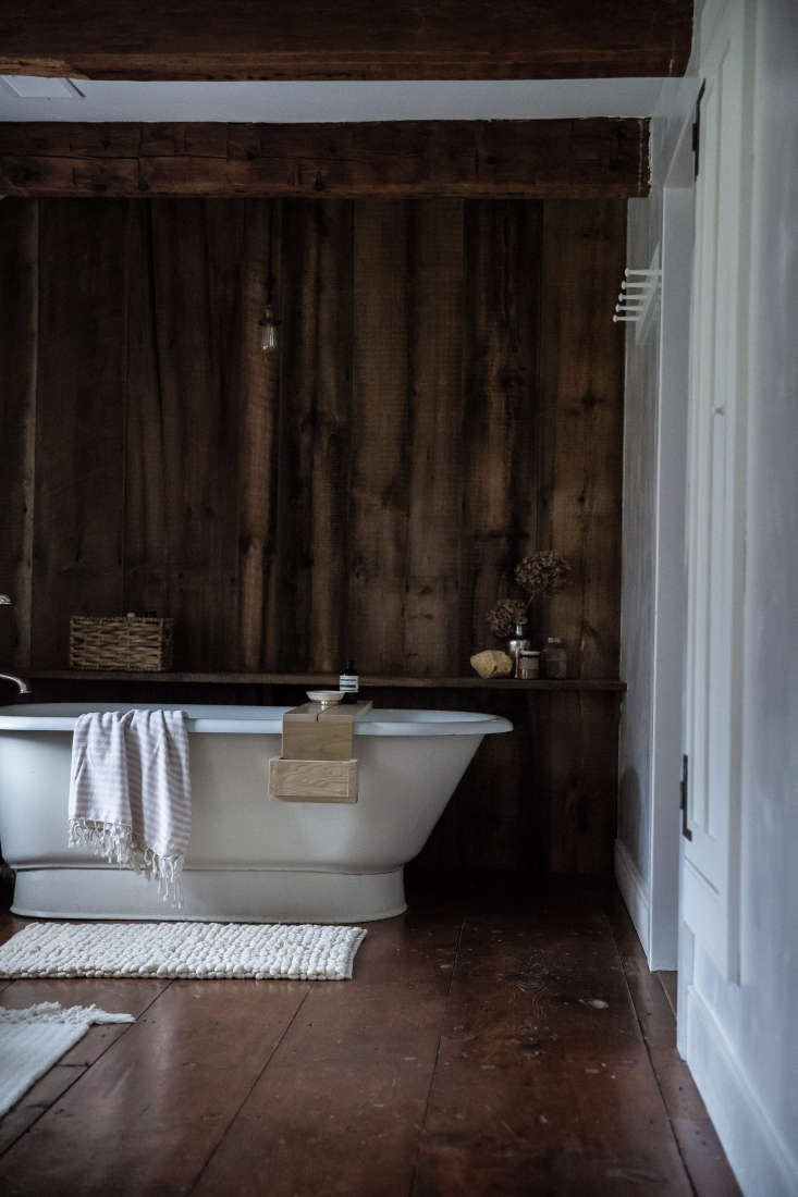 Tara Mangini and Percy Bright of Jersey Ice Cream Company added reclaimed wood paneling in this project: Old Soul: A Revolution-Era Hudson Valley Home Gets an Update from Jersey Ice Cream Co.