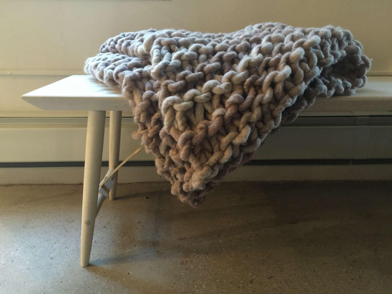 Jon-Giswold large knit merino blanket via Fair | Remodelista