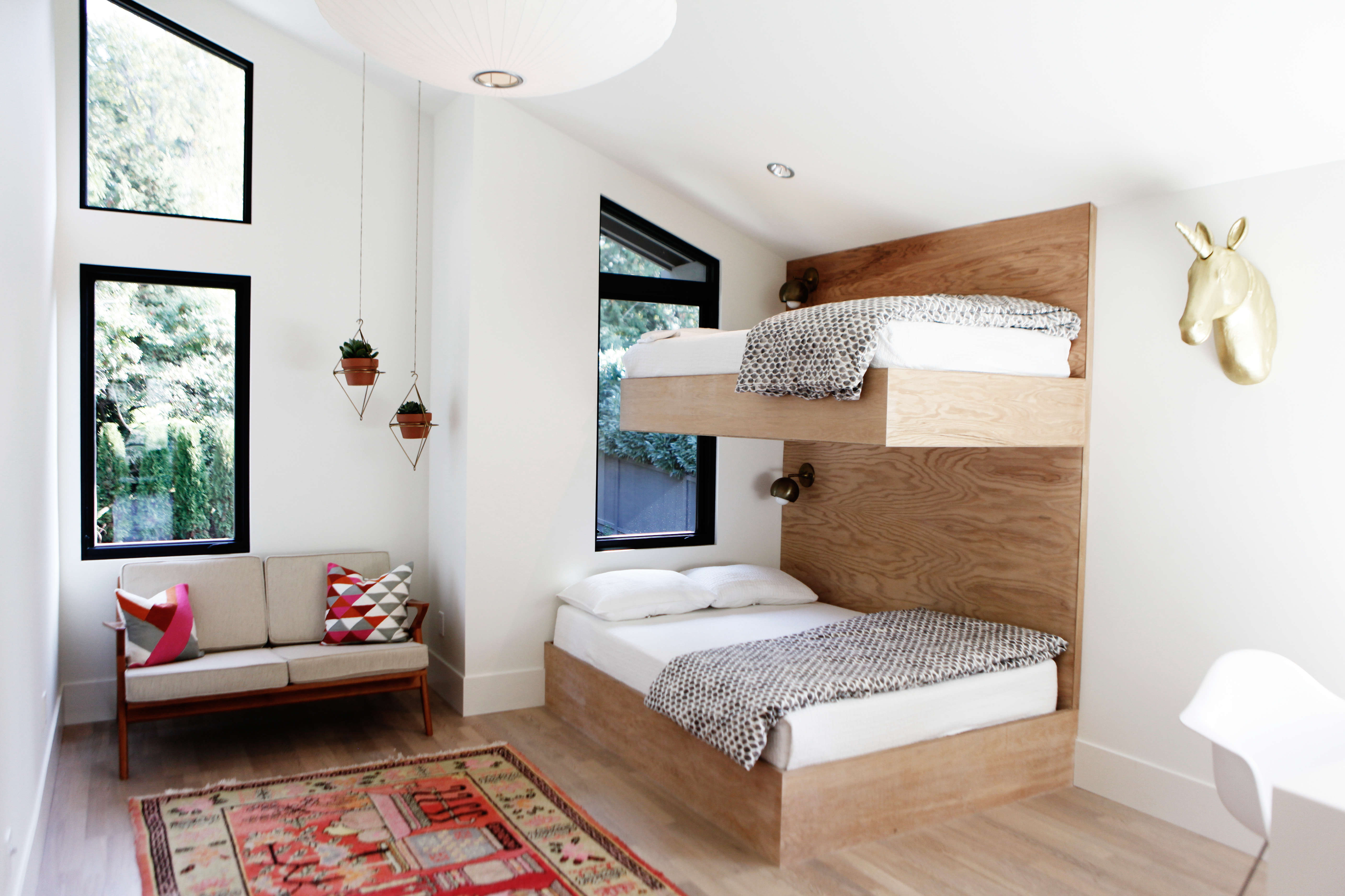 built in twin bunks in a kids' room by interior designer lisa staton and builde 19