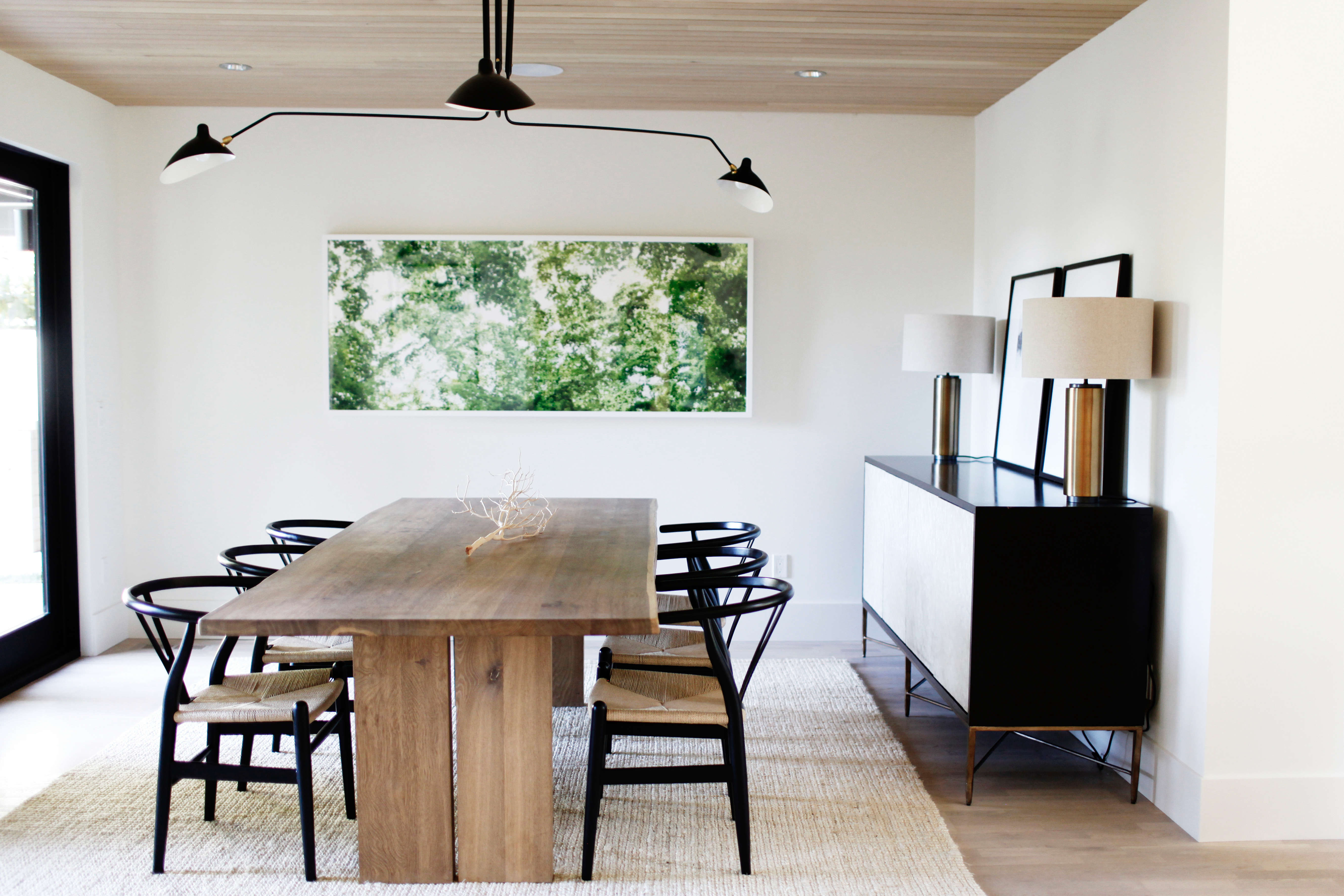 dining room in a remodeled ralph anderson 1966 home in bellevue, washington, by 13