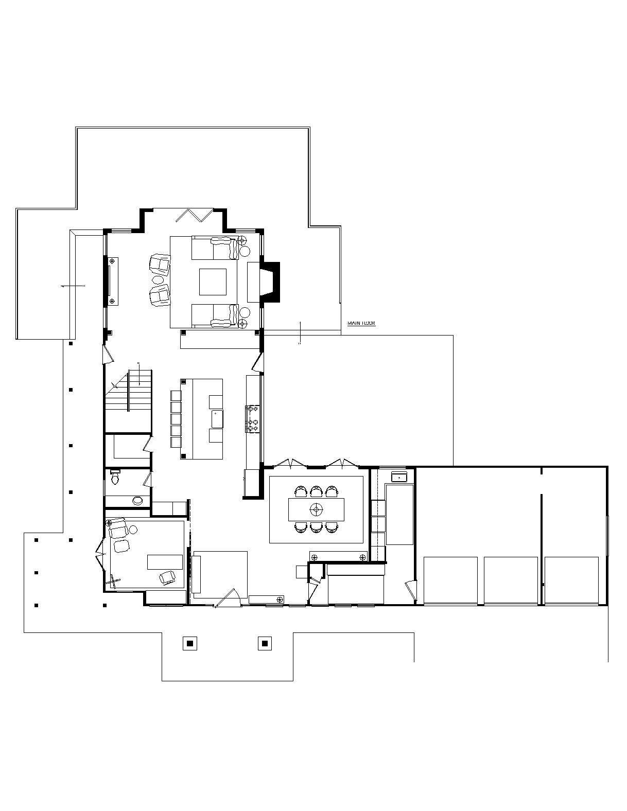floor plan, first floor of a remodeled ralph anderson 1966 home in bellevue, wa 25