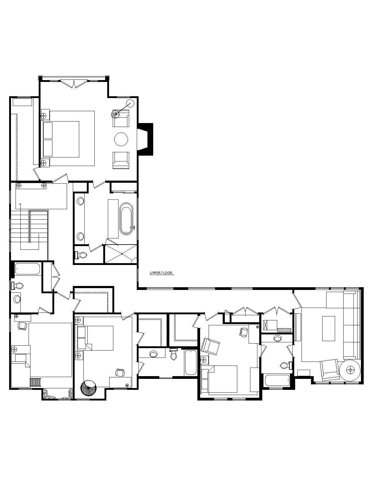 floor plan, second floor of a remodeled ralph anderson 1966 home in bellevue, w 26