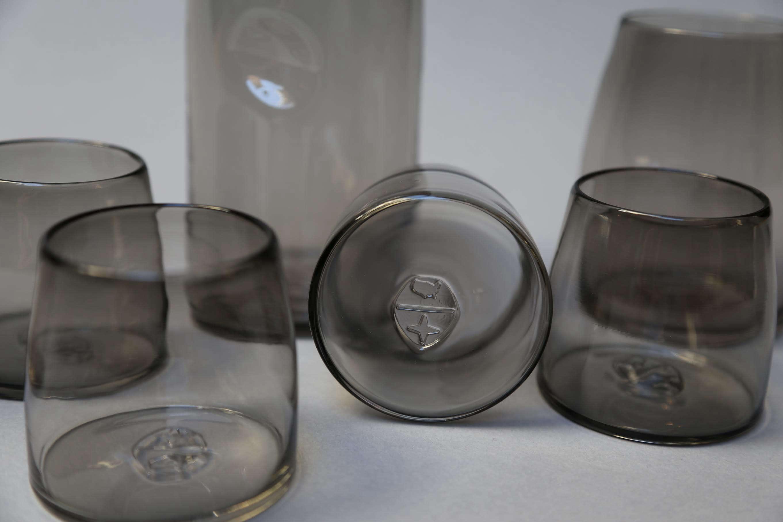 The Commons smoky glassware via Fair | Remodelista