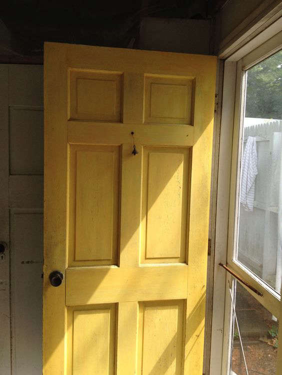 """A Spring Green Door with Farrow amp Ball Paint """"Before"""" Photo 