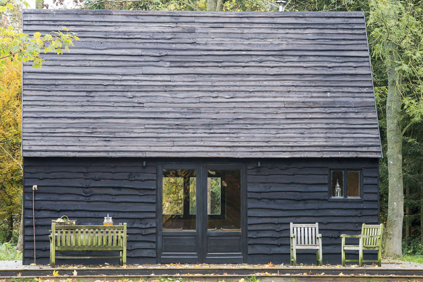 Woodland cabin in Belgium designed and built by London architecture firm De Rosee Sa Architects   Remodelista